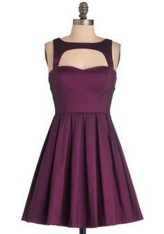 Bridesmaid dress: Modcloth Last Slow Dance Dress in Purple