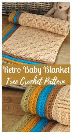 The Retro Baby Crochet Blanket Pattern Source by bestcraftsideas Crochet Baby Blanket Free Pattern, Crochet Quilt, Afghan Crochet Patterns, Knitting Patterns, Crocheted Baby Afghans, Crochet Baby Blankets, Cute Crochet, Crochet Crafts, Crochet Projects