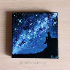 Milky Way painting st Valentine's day gift for by ArtColorSpace