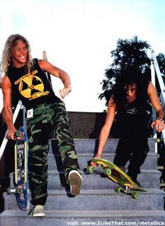 James and Kirk Skateboard