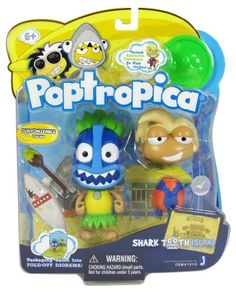 Poptropica 3 Inch Mini Figure Toy 2Pack Shark Tooth Island by Jazwares Toys, http://www.amazon.com/dp/B00589XBOA/ref=cm_sw_r_pi_dp_TpdOqb18YYKVE