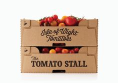 """Established in 2007, The Tomato Stall, based on the Isle of Wight, sells specialty tomatoes and artisanal products in farm shops and delis throughout the UK, as well as weekly farmers market stalls in London and the south."" Designers Anonymous"