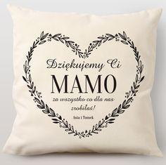 Poduszka personalizowana PODZIĘKOWANIE DLA MAMY