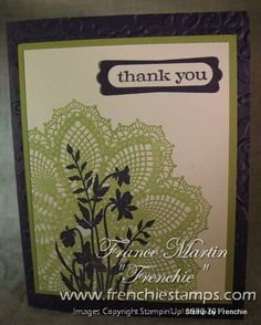 Hello Doily by France Martin - Cards and Paper Crafts at Splitcoaststampers