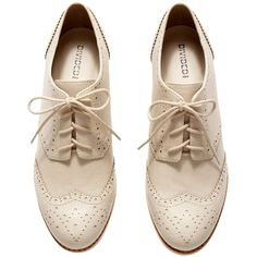 H&M Brogues ($31) ❤ liked on Polyvore featuring shoes, oxfords, brogue shoes, h&m, h&m shoes, h&m oxfords and wingtip shoes