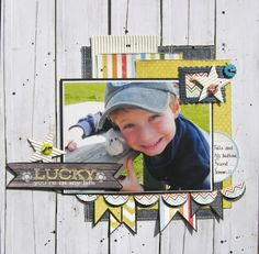 scrap book layout