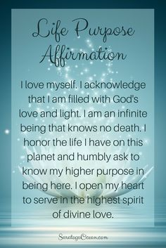 The most amazing fulfillment comes with knowing and enacting your divine life's purpose. Let this affirmation help you to open your heart to discover what that is for you. This is not something you can mentally come up with. Listen to your divine inspiration! <3