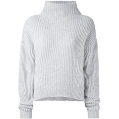 Le Kasha - Verbier cashmere jumper - women - Cashmere - M/L (2.555 BRL) ❤ liked on Polyvore featuring tops, sweaters, shirts, jumpers, grey, gray sweater, pure cashmere sweaters, gray shirt, gray cashmere sweater and grey jumper