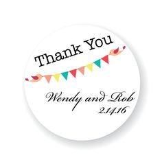 Custom Thank You Wedding Favor Stickers by StickEmUpLabels on Etsy, $5.50