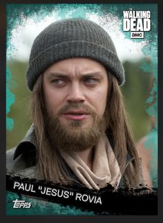 "Paul ""Jesus"" Rovia (Teal Parallel) Insert Card The Walking Dead 2016 Topps"