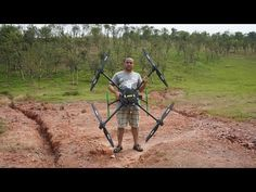 Flight of the Giant Quadcopter - YouTube