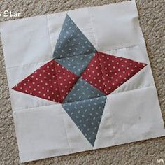 Arkansas Star Quilt Block tutorial by Piece N Quilt. Make your next star quilt pattern with this twinkling star quilt block