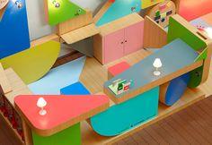 waku waku station by torafu architects - great interactive info booth resembling a children's playground.