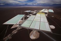 Ivan Alvarado / Reuters, Extreme Lithium Mining An aerial view of the brine pools and processing areas of the Soquimich lithium mine on the Atacama salt flat, the largest lithium deposit currently in production, in the Atacama desert of northern Chile, on Jan. 10, 2013.