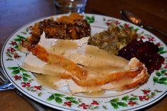 Moist turkey breast with gravy
