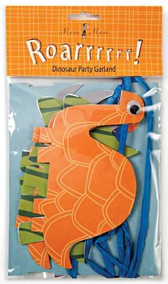 dinosaur garland...could be cute to tie in the dinosaur print.