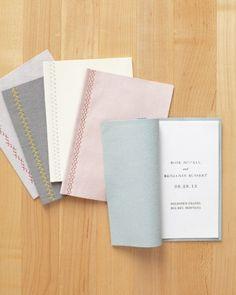 Stitched Program Covers #wedding @Martha Stewart Weddings Magazine