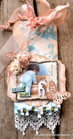 """""""The Baby's Room Gift Tag"""" from Belinda Spencer with our Little Darlings collection #tags #graphic45"""