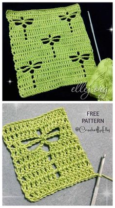 Dragonfly Stitch Free Crochet Free Pattern Source by Our Reader Score[Total: 0 Average: Related photos:Learn To Crochet Fancy StitchRaised Crochet Stitches Free PatternsInterlocking Block Stitch (aka Plaid Stitch) Free Crochet Tutorial Stitch Crochet, Crochet Motifs, Crochet Stitches Patterns, Crochet Squares, Filet Crochet, Knitting Patterns Free, Knit Crochet, Free Knitting, Crochet Square Patterns