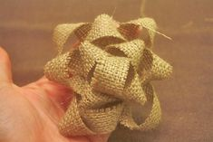 Make-Your-Own Burlap Fabric Gift Bow : Factory Direct Craft Blog