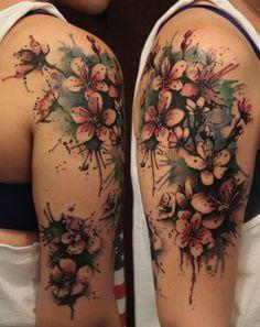 tatuaje del hombro por Gene Coffey | artista del tatuaje - Brooklyn NY, EE.UU.