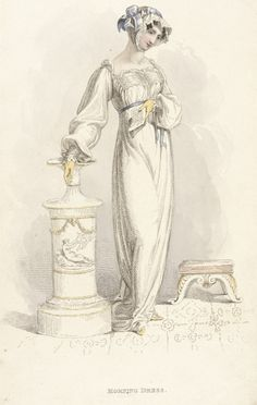 Fashion Plate (Morning Dress) Rudolph Ackermann (England, London, 1764-1834) England, London, May 1, 1812 Prints; engravings Hand-colored engraving on paper LACMA Collections