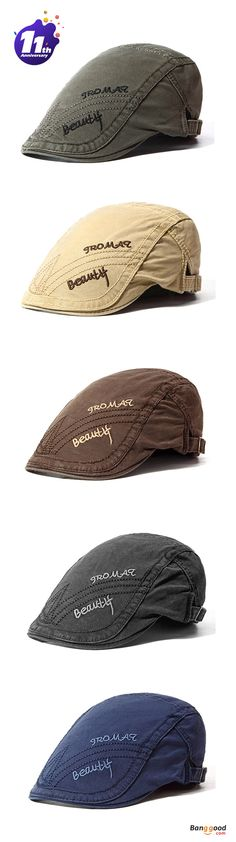 US$9.79+Free shipping. Low price for last 6 days, shop now! Berets Caps, Forward Hat,  Letter Embroidery, Adjustable, Outdoors, Casual. Color: Black, Army Green, Navy, Coffee, Camel.