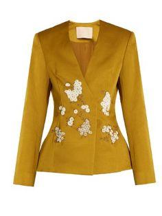 Jaynce embellished cotton-blend jacket | Brock Collection | MATCHESFASHION.COM US