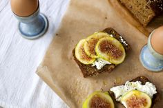 Edible Living: Golden Zucchini Bread with Ricotta and Figs via @Sarah Copeland // The Newlywed Cookbook