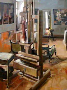LA MAISON DE CHALO Huile sur toile 130 x 97 cm