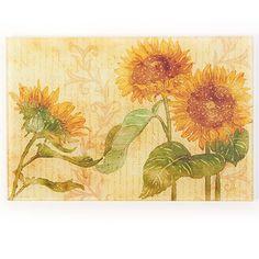 Counter Art Sunflower Glass Cutting Board