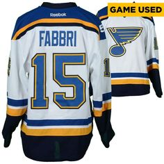 Robby Fabbri St. Louis Blues Fanatics Authentic Game-Used 2016-17 50th Anniversary Season Set 1 Road White Jersey - Worn From October 18, 2016 Through November 23, 2016