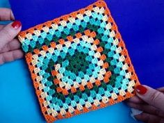 Вязание крючком Урок 252 Бабушкин квадрат Crochet granny square - YouTube