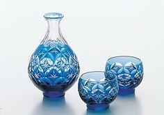 Edo kiriko glass