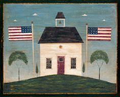 Image detail for lella loves warren kimble Warren Kimble Folk Art Pinterest Vermont For