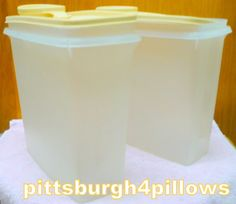 2  Tupperware  471  Cereal Keepers W/ Lids  by pittsburgh4pillows