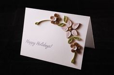 floral card #quilling