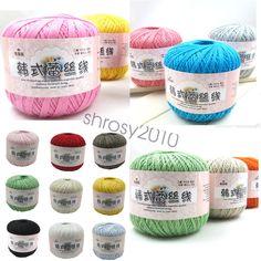 Wholesale!Popular 25 colors Lace Soft Crochet Cotton yarn hand knitting Yarn