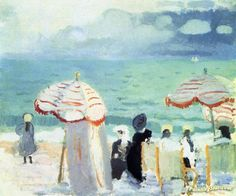 Parasols Artwork by Raoul Dufy Hand-painted and Art Prints on canvas for sale,you can custom the size and frame