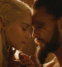 Khal Drogo and Daenerys Targaryen -- Game of Thrones