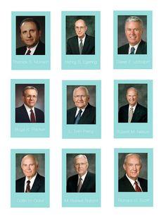 LDS Apostles Flashcards Printable