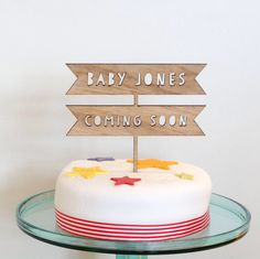 Personalized Wedding Cake Toppers, Personalised Baby, Wooden Cake Toppers, Glitter Cardstock, Rustic Cake, Birthday Cake Toppers, Baby Shower Cakes, Safe Food, Biodegradable Products
