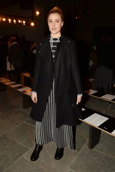 Greta Gerwig  Front Row at Proenza Schouler Fall 2015 [Photo by Steve Eichner]