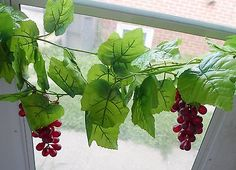 1 Big Leaf Grape Vine 3 Bunch Of Grapes Artificial Plants Grape Leaf Wine Red Garland Wall Wedding Decor FT -- See this great product. Backyard Pergola, Pergola Kits, Garland Wedding, Wedding Decorations, Red Garland, Fire Pit Decor, Big Leaves, Pergola Attached To House, Fruit Plants