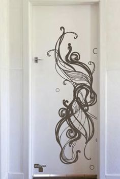 Thinking about using this design on the side of a shelf I have. Door Stickers, Aluminium Doors, Design Projects, Design Ideas, Beautiful Patterns, Wall Decals, Wall Art, Print Patterns, Pattern Design