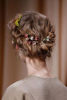 Valentino Haute Couture Spring/Summer 2015, Hair Details.