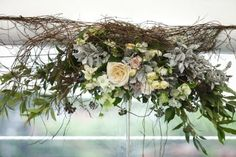 vintage flowers for the wedding canopy