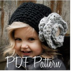 Crochet PATTERN-The Madyson Slouchy Toddler por Thevelvetacorn