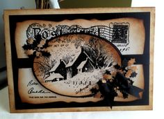 Carousel Rubber Stamps - using Snowy postcard stamp from Stampendous