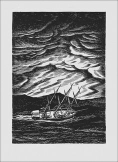 Moby Dick by Herman Melville. Illustrated by Rockwell Kent, 1930.